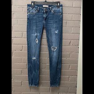 Zara distressed skinny jeans 4